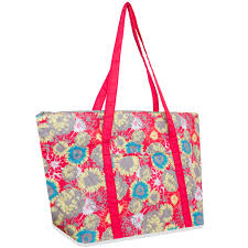 Wholesale Quilted Cotton Tote Bag - Coral Floral | Bags In Bulk & Wholesale Quilted Cotton Tote Bag - Coral Floral - BagsInBulk.com Adamdwight.com