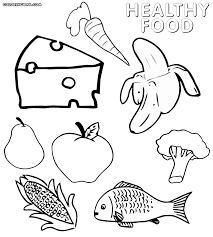 Coloring Pages Of Food Destiny Staying Healthy Foods F 3795 Unknown