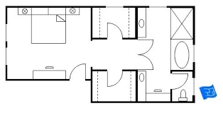 master bedroom suite layout. Master Bedroom With Walk In Closet And Bathroom Narrow Suite Layout