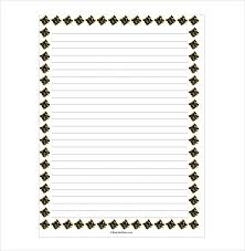 Lined Paper Word 14 Word Lined Paper Templates Free Premium Templates