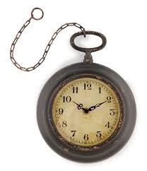 park hill antiqued pocket watch wall clock