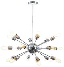 18 light chandelier sputnik light chandelier chrome crystal rain 37 wide 18 light crystal chandelier