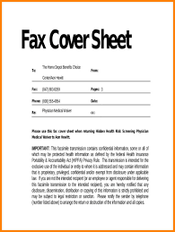 10 Fax Cover Letter Example Lycee St Louis