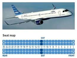 Embraer E90 Seating Chart Jetblue Airways Embraer Erj 190 Jet Aircraft Seating Layout