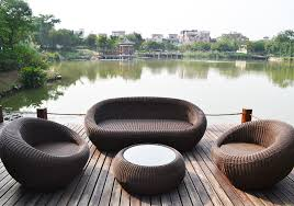 tf 9079 high end outdoor furniture wicker sofa set