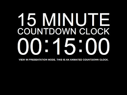 countdown timer 15 minutes 15 minute black countdown clock presentation powerpoint slide