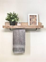 Use towel rack in kitchen instead of under the sink  Bathroom RackRustic Bathroom  ShelvesBathroom ...