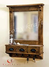 mirror with hooks. dressing mirror with hooks and 3 storage drawers , bathroom shelf (in 2 parts)