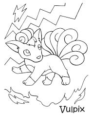 Kleurennu Pokemon Vulpix Kleurplaten