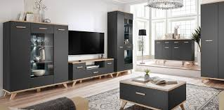 black high gloss living room furniture