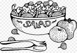 fruit salad clipart black and white. Brilliant And Fruit Salad Coloring Book Food  On Salad Clipart Black And White KissPNG