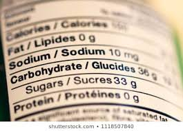 Miguel S Nutrition Chart Nutrition Facts Label Isolated Stock Photos Images