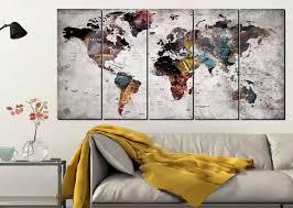 world map wall art world map canvas art large world map world map 5 panels world map push pin world map abstract world map art world map on grey and yellow wall art canada with world map wall art world map canvas art large world map world map 5