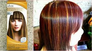 Light Ash Brown With Highlights Glamworks Highlight Kit Light Ash Brown Review Youtube