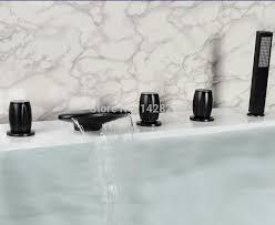 Waterfall Bathtub Oil Rubbed Bronze Widespread Three Handles Waterfall Bathtub Tub