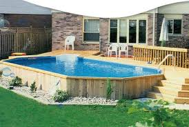 oval above ground pools with deep end