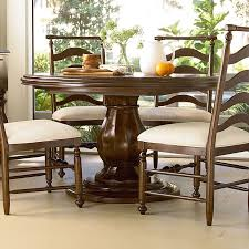 paula deen river house round pedestal dining table river bank hayneedle
