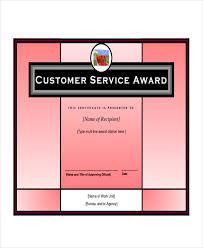 Customer Service Certificate Template Service Award Template 6 Free ...