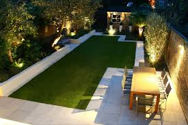 exquisite modern garden design with awesome modern landscape lighting design