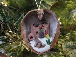 Our line also included tiny walnuts filled with Santas, woodland creatures,  and anything else our imaginations could fit into a walnut.