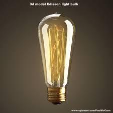 3d Light Bulb Vintage Antique Light Bulb 3d Model