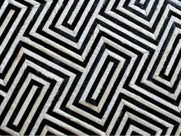 black and white rug patterns. Beyond The Scope Of Cowhides We Are Seeing Trends In Bold Brightly Colored Rugs Reds, Purples, Blues And Greens. Have Shifted From Afterthought To Black White Rug Patterns K