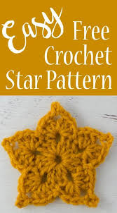 Crochet Star Pattern Custom Easy Crochet Star Pattern Crocheting Pinterest Crochet Star