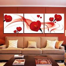 Small Picture Fashion Red Flower Modern Art Wall Painting Home Decoration Art