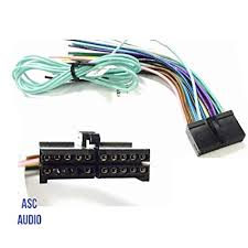 amazon com asc audio car stereo radio wire harness plug for select asc audio car stereo radio wire harness plug for select boss 20 pin radios dvd nav