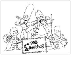 Simpson 115 Dessins Anim S Coloriages Imprimer