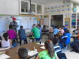 Everyone had fun reading at Queen Palmer Elementary   Rotary Club of  Colorado Springs