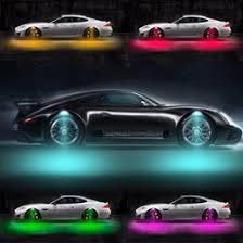 exterior led lighting car. newest 8w car exterior lights wheel led light accessories decoration 12-24v 3 mode strobe breathing 4pcs set led lighting