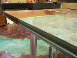 this countertop was cast in a regular rectangular form the curved indent was created by