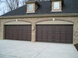 garage door walnut brown