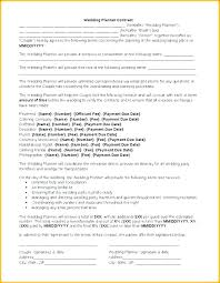 Free Wedding Planner Contract Templates Event Contract Template Selfshoppy Me
