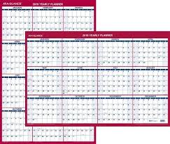 at a glance 2019 yearly planner pm26 28 dry erase wall calendar 24 x 36