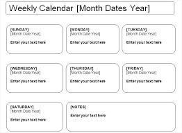 Month At A Glance Calendar Template Printable Week At A Glance Calendar Template Family Planner Weekly