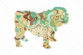 Icone gratuite di bulldog clipart in vari stili di progettazione per progetti di web, mobile e grafica. English Bulldog Colorful Boho Style Svg Cut File By Creative Fabrica Crafts Creative Fabrica