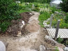 rock path create a garden path