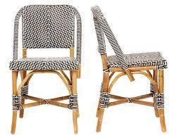 French Bistro Decor Bistro Lafrique 32h Black And White Pattern Bistro Chairs A