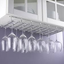 Under Cabinet Wine Racks Large Under Cabinet Stemware Rack Wine Enthusiast
