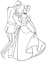 Small Picture Coloring Pages Cinderella And Prince Charming Coloring Coloring