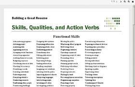 Action Verbs To Use In Resume - Best Resume Collection