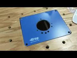 kreg router plate installation using