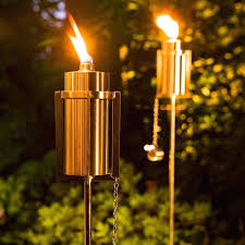 outdoor oil torches with a contemporary twist keep pesky bugs away modern lamps