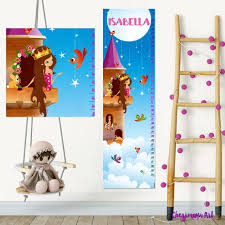Personalized Princess Growth Chart Princess Growth Chart Princess Bedroom Decor Personalized Growth Chart Kids Growth Chart Personalized Princess Wall Art Height Wall Chart