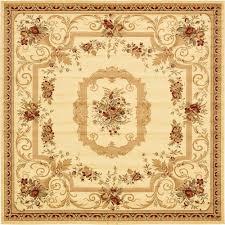 unique loom versailles cream 10 x 10 square rug