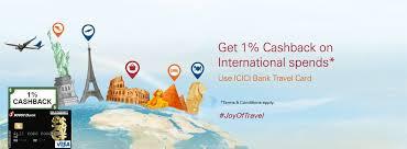 cashback offer on travel card