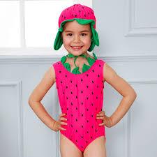 Swimwear For Children One Piece Swimsuit Girls Watermelon Kids ...