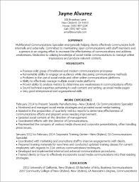Resume Templates: Communications Specialist